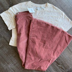 Free People Just Float on Flare Jeans in Mauve